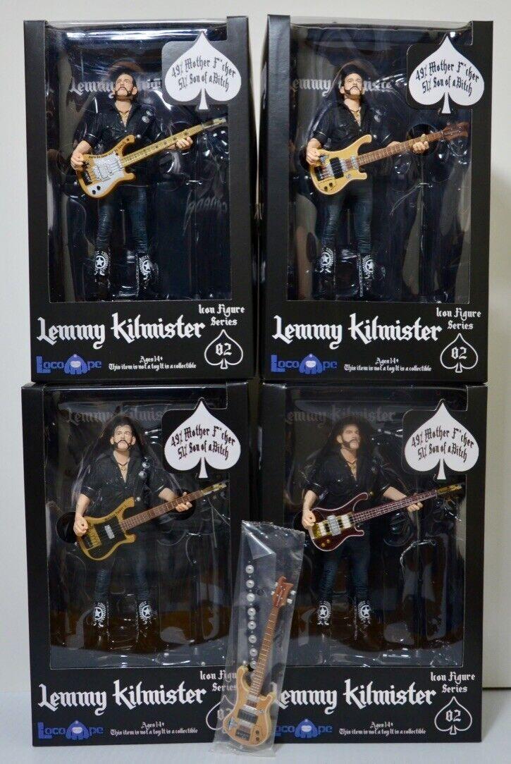 Motorhead Lemmy Kilmister Icon Figure Series LocoApe Complete Set of 4 + Guitar