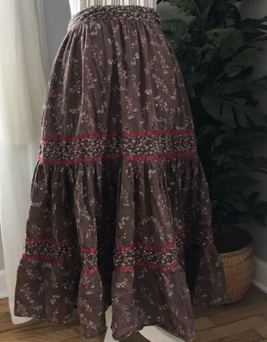 Vintage Floral Prairie Skirt Jessica's Gunnies of