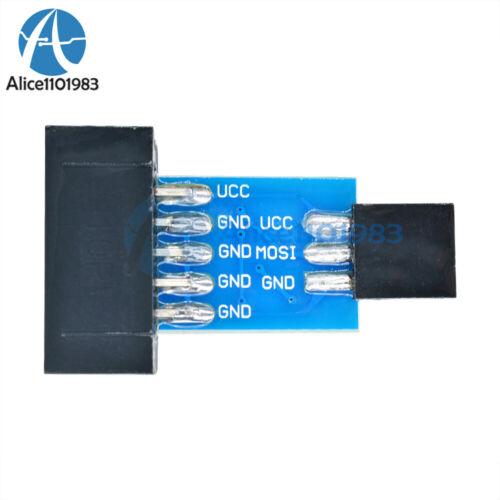 10PCS 10 Pin Convert to Standard 6 Pin Adapter Board ATMEL AVRISP USBASP STK500