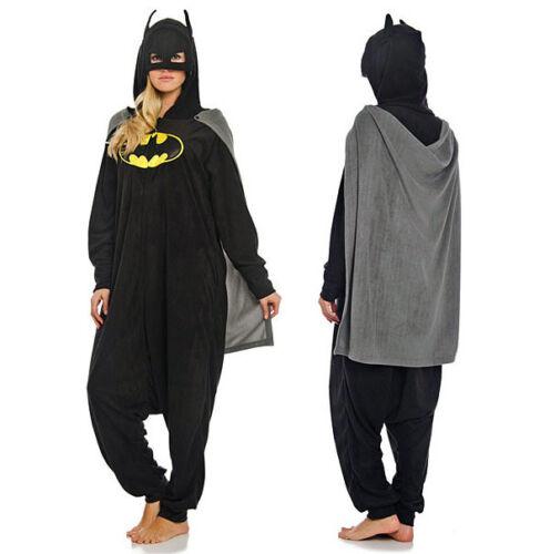 Super eroe uomo ragno BATMAN onesiee Kigurumi Costume Pigiama Con Cappuccio