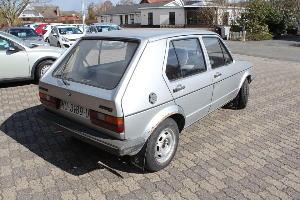 VW Golf I 1,6 D Diesel modelår 1982 km 208000, uden afgift