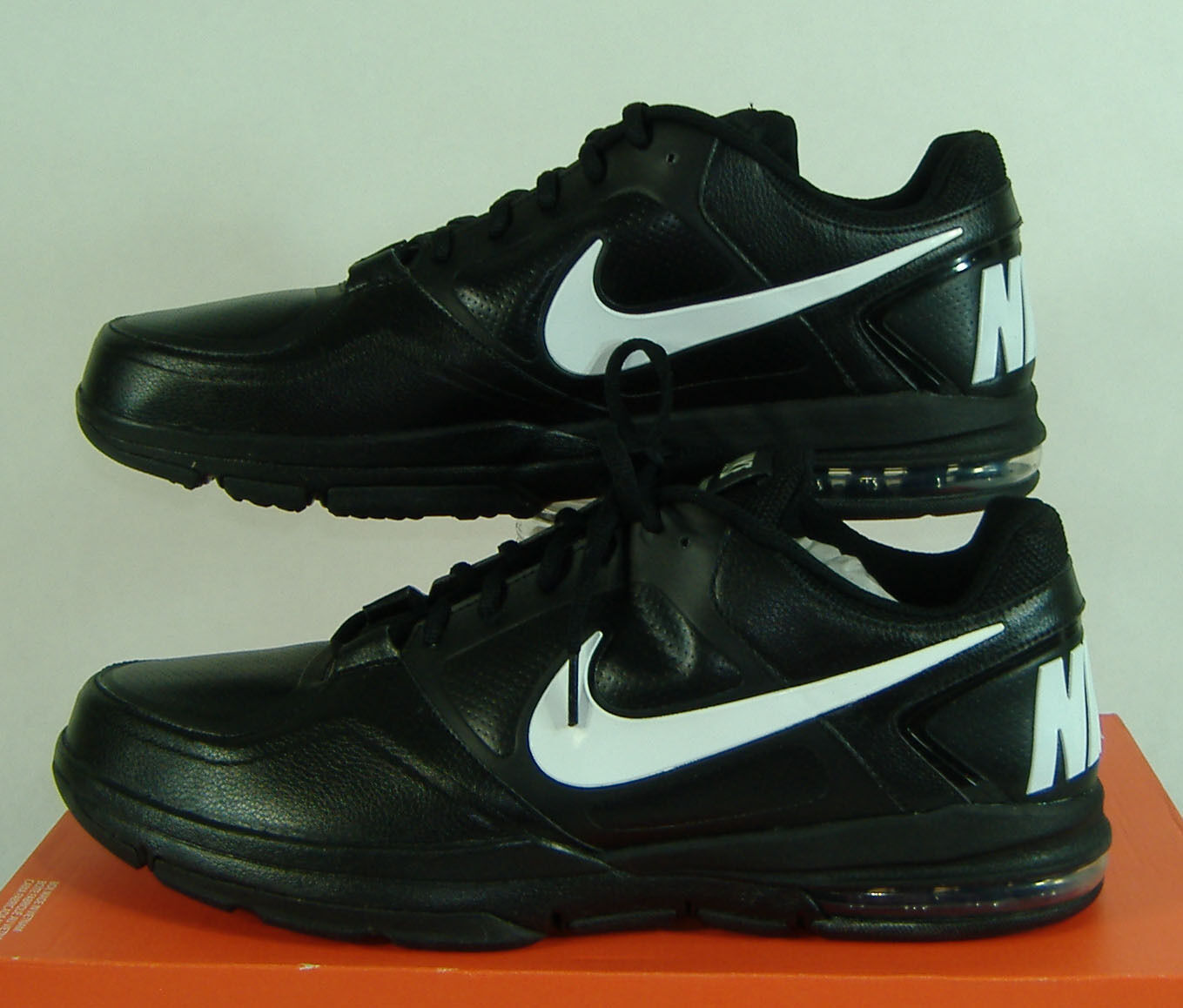 best-selling model of the brand New Mens 13 NIKE Air Trainer 1.3 Low TB Black White Leather Shoes Price reduction