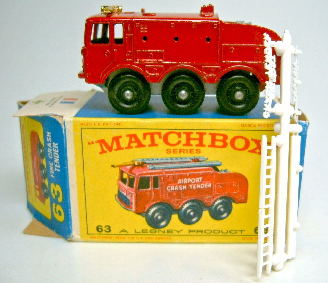 Matchbox Rw 63b Foamite Crash Tender without suspension top in  e3  Box