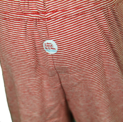 JACADI Boy/'s Maillon White And Red Striped Trousers Size 12 Months NEW $30
