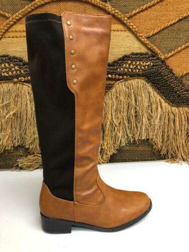 Bagatelle Vintage 90s Womens Brown Leather Slouch Riding Boots Size 9M