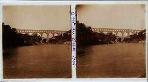 Ponte Del Gard Stereo Amateur Targa Di Vetro Pos. 1934 Vintage