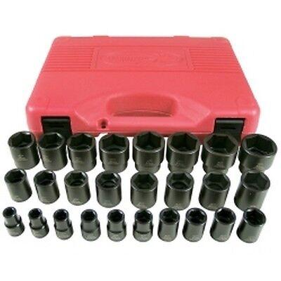 "26 Piece 1/2"" Drive Metric 6 Point Short Impact Socket Set KTI38101 Brand New!"