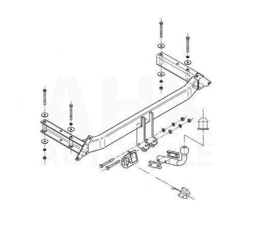 Kpl AHK Audi A4 B5 Limousine 94-00 Anhängerkupplung starr+ES 7p uni