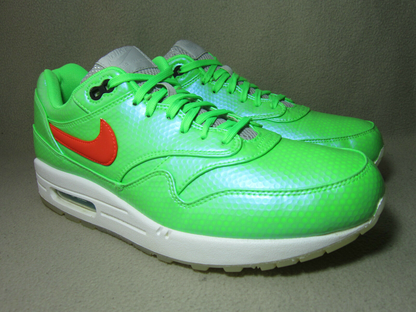 NIKE AIR MAX 1 FB MERCURIAL Hommes Green Synthetic Trainers10/EU 45