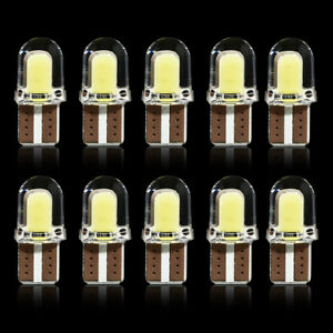 10x-T10-194-168-W5W-COB-8SMD-LED-CANBUS-Silica-Bright-License-Light-Bulbs-White