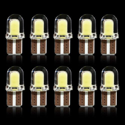10x T10 194 168 W5W COB 4 SMD LED CANBUS Silica Bright White License Light Bulbs