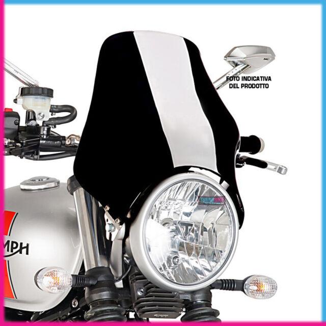 Motorbike Motorcycle Windshield Puig Naked Triumph Thruxton 04-16 dark smoke