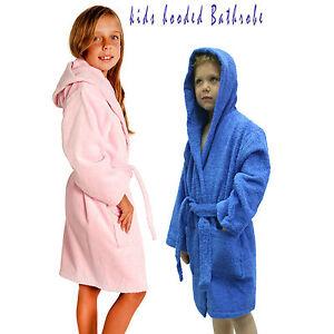 Neuf Enfants Garçons Filles Peignoir à Capuche Peignoir Pyjamas Nuit Peignoir-afficher Le Titre D'origine