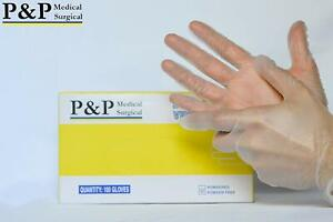 Disposable Vinyl Gloves Powder & Latex Free Exam Grade Extra Large XL Box of 100
