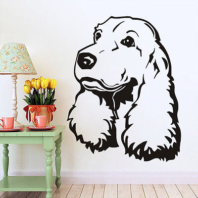 Cocker Spaniel Removable Wall Decal Cute Puppy Dog Bedroom Mural Vinyl Sticker