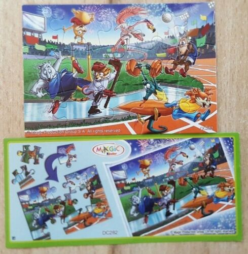 incl Israel Kinder Puzzle DC282 1 tlg Sporty Animals Bpz
