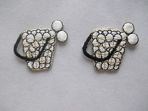 3644-Lot-2Pcs-Golf-Ball-w-Ball-Basket-Embroidery-Iron-On-Applique-Patch