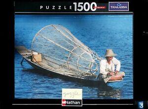 Nathan-Puzzle-1500-pieces-87481-Pecheur-de-Birmanie