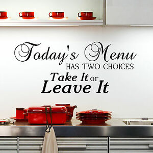 todays menu kitchen wall sticker quote decor removable decal mural