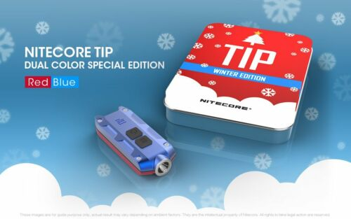 Nitecore Tip Winter Edition Rechargeable Key Light-Red//Blue Holiday Gift Set