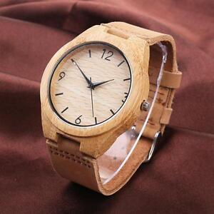 Fashion-Luxury-Bamboo-Wood-Watch-Quartz-Leather-Wristwatches-With-Box