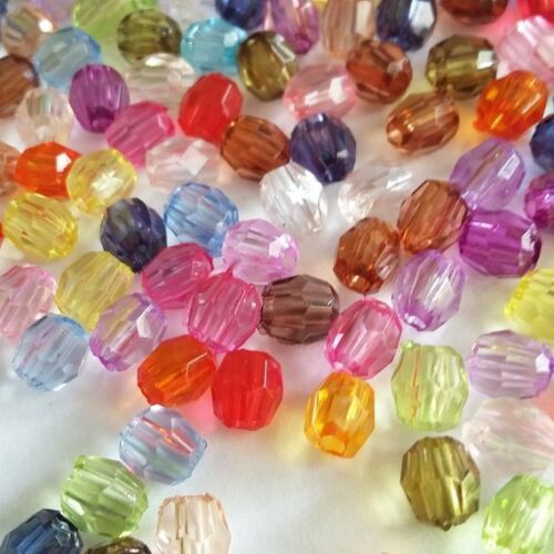 Assorted Acrylic Faceted Oval Beads 8.75g 4mm Jewellery Craft Supplies B13834