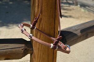 Jose-Ortiz-Rolled-Harness-Western-Training-Caveson-3-Natural-Latigo-Rawhide-Knot