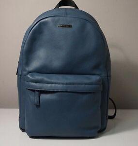 Michael-Kors-Unisex-Stephen-Leather-Vintage-Indigo-Blue-Backpack