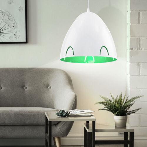 Decken Pendel Lampe Ess Zimmer Hänge Beleuchtung grün weiß Spot Strahler Leuchte