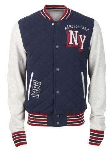 2XL M XL L AEROPOSTALE Aero pour Homme New York Varsity Jacket Letterman Manteau New York S 3XL