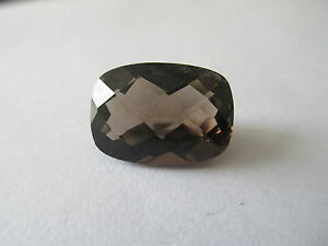 ,38ct Loose Antique Emerald Cut Medium Brown Smokey Quartz 9 x 7mm