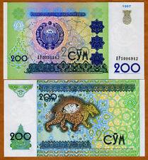 Uzbekistan, 200 Sum, 1997, P-80, UNC   Ornate