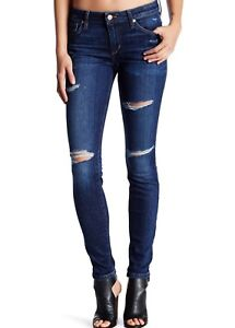 NWT JOE'S JEANS Sz25 THE SKINNY ANKLE MIDRISE STRETCH JEANS DISTRESSED ESTHER