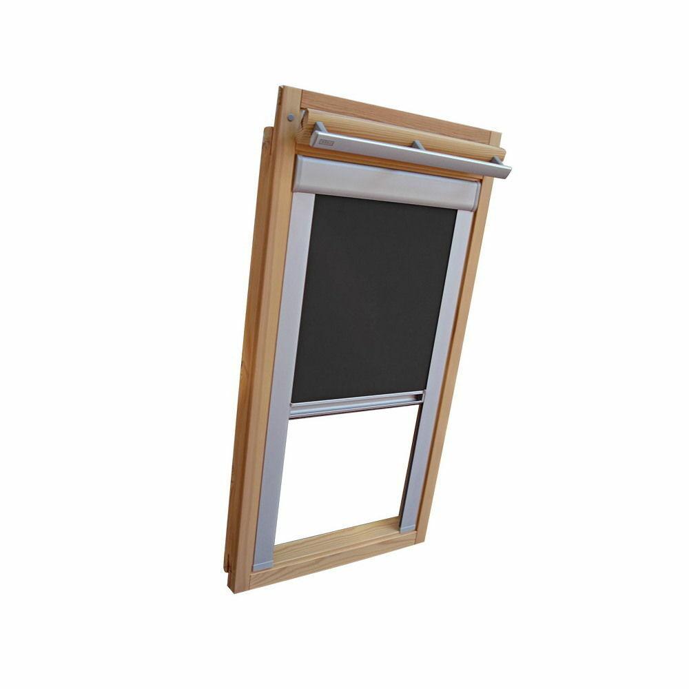 Verdunkelungsrollo Thermo Dachfensterrollo für Velux VL VF VT - dunkelgrau | Elegantes Aussehen