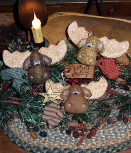 Primitive Moose Ornies Bowl Fillers Doll Paper Pattern #266