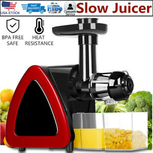 Details about Slow Masticating Juicer Cold Press Extractor Stainless Steel Wide Chute w Brush