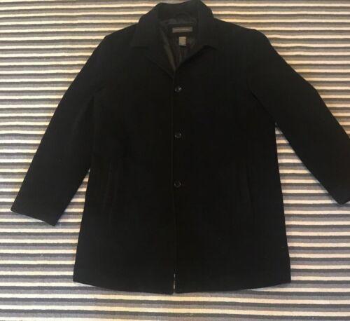 banana republic mens coat wool cashmere black larg