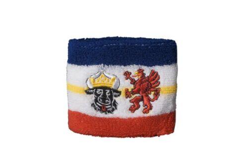 Schweißband Fahne Flagge Deutschland Mecklenburg-Vorpommern 7x8cm Armband für Sp