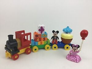 Mickey-Mouse-Birthday-Train-Clubhouse-Lego-Duplo-Building-Toy-100-Complete