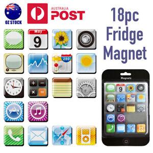 18pcs-Apple-iPhone-iPad-App-Logo-Icons-Fridge-Magnets-Whiteboard-Magnet-Fun-Gift