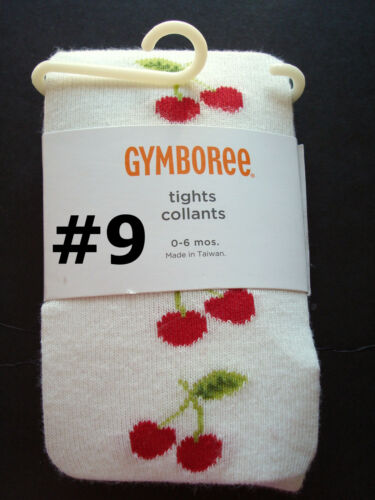 NWT Gymboree Baby Girls TIGHTS Dots//Fair Isle//Solids//Stripes /& Ivory//Purple//Red
