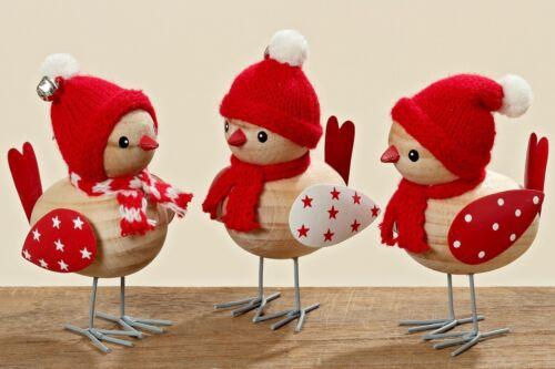 Oiseau bois dekovogel avec Bonnet Noël Décoration de Table bout de prix
