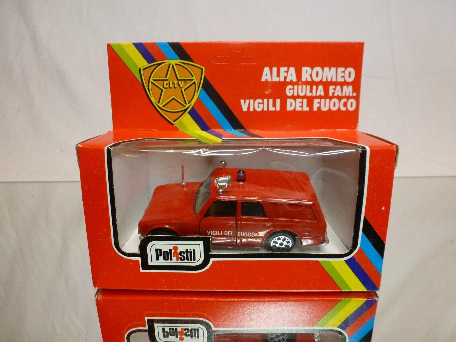 POLISTIL CE16 ALFA ROMEO GIULIA FAMILIARE VIGILI del FUOCO - 1:43 - GOOD IN BOX