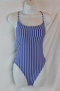 59292686d23e4 J.Crew $118 Women's Lace-Up Back One piece Swimsuit Caribbean Sea 10 ...