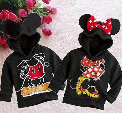 NWT Baby Kids Girls Boys Mickey Minnie Mouse Hooded Jacket Sweater Hoodies 99#