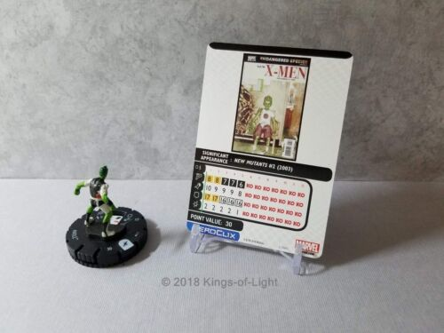 Anole 012 Marvel X-Men Xavier/'s School HeroClix Miniature Common