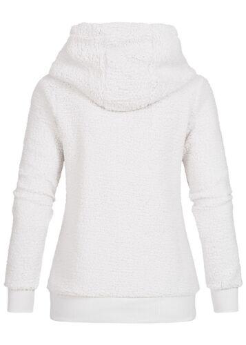 50/% OFF B18103523 Damen Eight2Nine Pullover Fleece Hoodie Kapuze 2 Taschen weiß