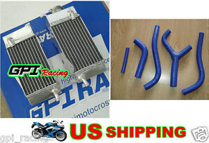 R&L ALUMINUM RADIATOR & hose for HONDA CR250R CR250 CR 250R 1983 83