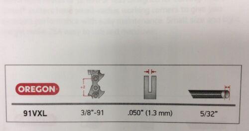 """Profil Bas OREGON Tronçonneuse Chaîne 91VXL 57 Lecteur Liens 3//8/"""" .050/"""" 1.3 mm 91VXL057"""