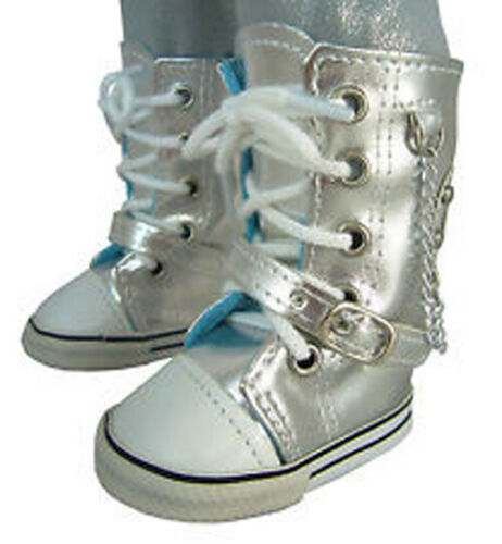 """SILVER HIGHTOP TENNIS DOLL CLOTHES fits  AMERICAN GIRL AND MOST 18/"""" DOLLS"""